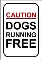 錫看板、オフィス犬のために自由にランニング犬の看板アルミニウムサインノベルティ屋外錫シンプレート金属壁のポスタープラーク