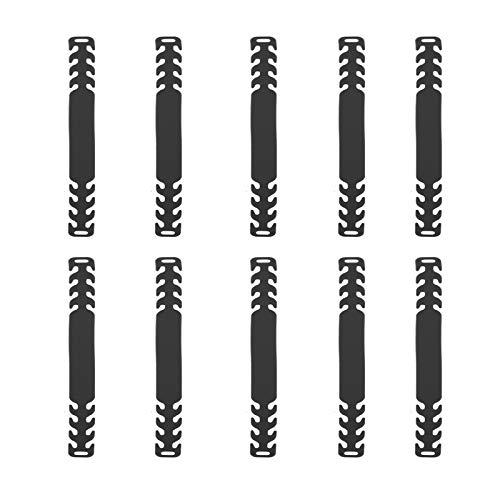 KATELUO Ganci Di Prolunga Regolabili,10 Pezzi Orecchio Antiscivolo Gancio,Cinghia di Estensione,Antiscivolo Gancio, Fibbia di Prolunga per Adulti, Bam