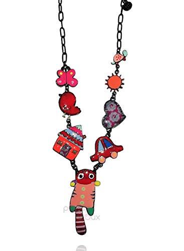 Lol Bijoux – Collar con diseño de gato rojo – Poppup-BijOux