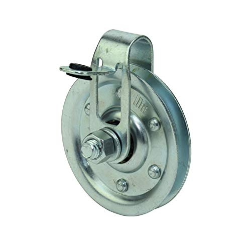 Fantastic Prices! 3″ Garage Door Pulley with Cable Restraint (4 Pulleys)