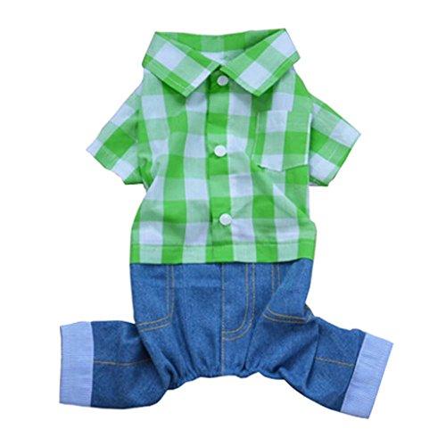 Motif Animaux Habillement Mode Plaid Chiens Vêtements Costume de petite taille
