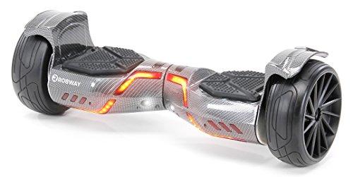 Robway X1 / X2 Hoverboard - Das Original - Offroad/Street Edition - Samsung Marken Akku - Self Balance - Bluetooth Lautsprecher - 700 Watt Motor - App - Led (X2 Carbon, Street)