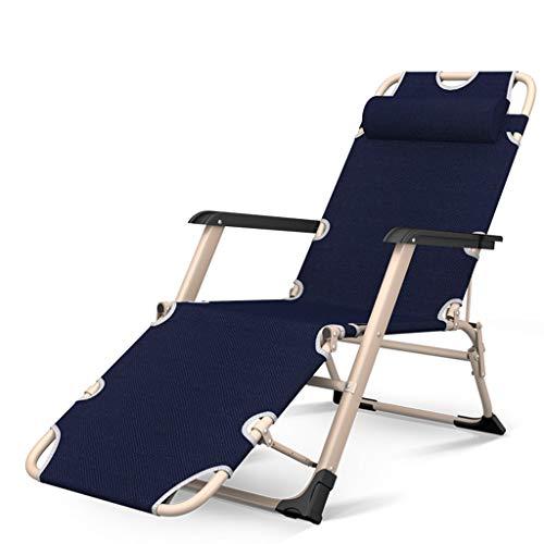 KHL Nouveau Respirant Durable Chaise Pliante Déjeuner Inclinable Chaise Unique Maison Loisirs Dossier Portable Chaise Paresseux Porter Respirant Lit Chaise À Double Usage