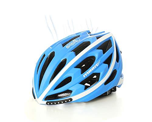 LY-YY Casco de Ciclismo para Hombre Inteligente Intermitente luz de Freno Casco...