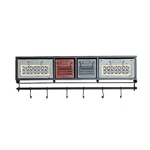 Zhongshan Vintage Rustikale Wand- Organisator Regal Ständer, Wandschrank mit Schubladen und...