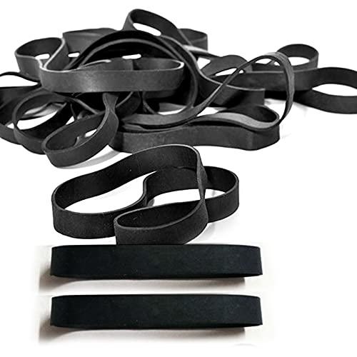 Gsrhzd 30 piezas Bandas de goma de oficina, Gomas elasticas papeleria, Adecuado para la organización de archivos en el hogar o la oficina (negro)