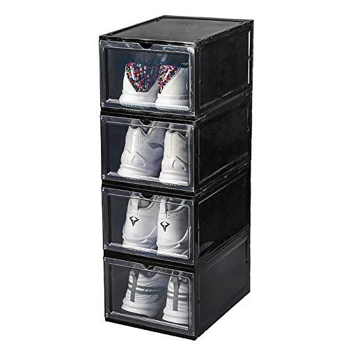 mingyimingshangmao Transparente Schuhkarton Sneaker Aufbewahrungsbox, Kunststoff Basketballschuh Sneakers Sammlung Vitrine platzsparende Schuhe Artefakt