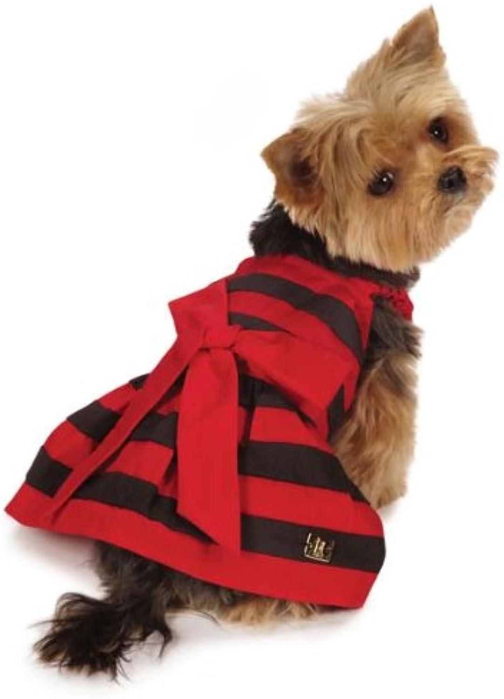 M. Isaac Mizrahi US65050883 Leopard Collection Stripe Dress, Red, XXSmall