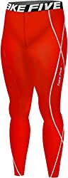 mens compressions tights red