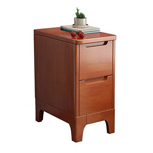 GZQDX Comodino in Legno massello comodino semplice contenitore, comodino Camera da letto con Design a Doppio cassetto