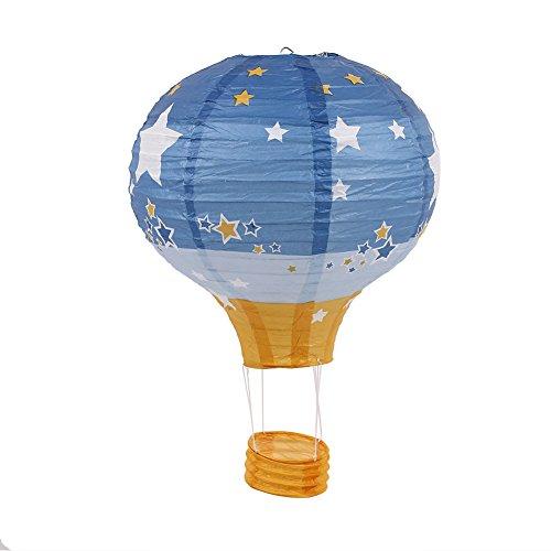 Auntwhale 12 Pulgadas 1 Pieza Globo aerostático Decoración de Linterna de Papel Fiesta de cumpleaños, decoración de la Boda