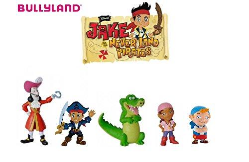 Bullyland Walt Disney Capitán Jake - Izzy - Tick Tack - Cubby - Capt'N Hook - 5 Figuras