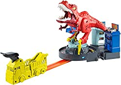 2. Hot Wheels T-Rex Rampage Track Set