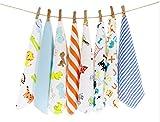 CuteOn Paquete de 8 Súper Suave Bebé Washcloth Alimentación Limpiar Paño...
