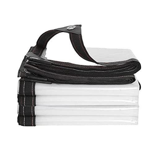 Telone in plastica impermeabile di PVC trasparente con occhielli trasparente in plastica impermeabile spessa, copertura per tetto di terrazza di pergola in PVC resistente.