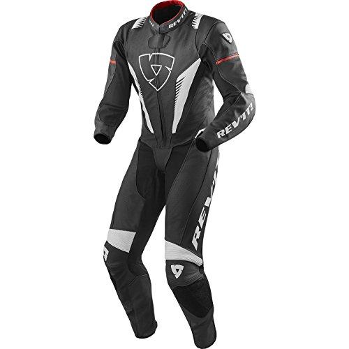 REVIT Traje de moto de cuero Negro, Blanco, Rojo