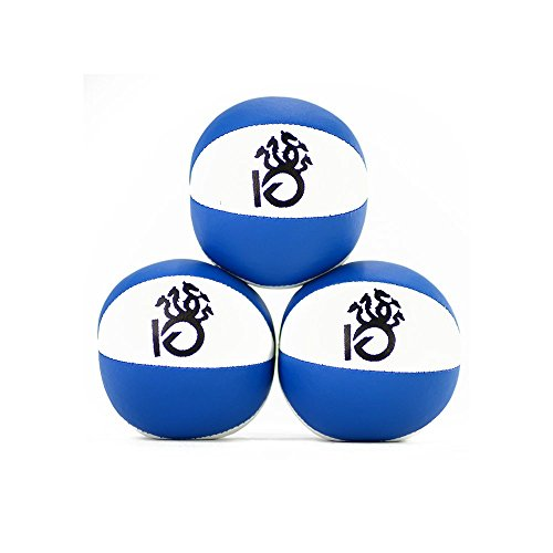 KickFire Hydras Juggling Balls 6 Panel Leather Juggling Equipment for Beginners & Professionals | Fits of Hands