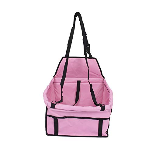 Wakects - Mochila de Transporte para Perro de compañía, Transpirable y Plegable, 40 x 30 x 25 cm, Color Rosa