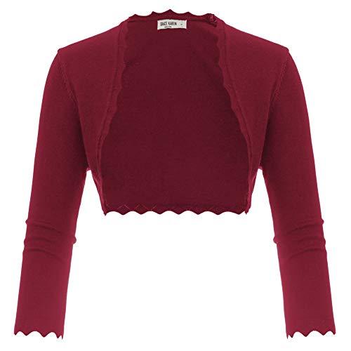 GRACE KARIN Damen Cropped Knit Bolero für Kleid Open Front Kurz Strickjacke Elegant Cardigan M CL960-9