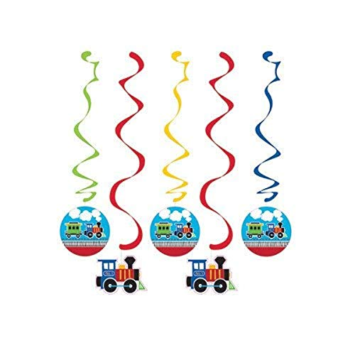 Creative Converting Train Dangling Party Decorations Danglers, Multisizes, Multicolor