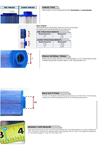Hot Tub Replacement Filter Compatible with Jacuzzi Spa J-400 Models Only 2006+ 2540-384