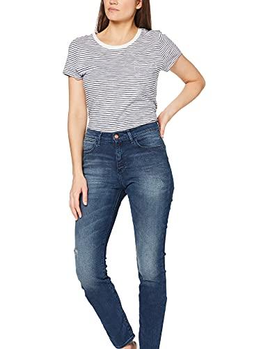 Wrangler Damen High Rise Skinny Jeans, Subtle Blue, 28W / 32L