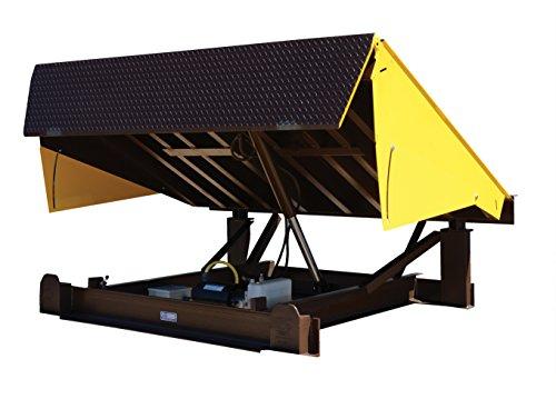 Vestil EH-76-25 Dock Leveler Electric Hydraulic, 25000 lb. Capacity, 7' x 6', Brown/Yellow