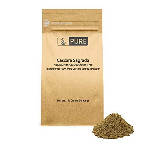 Pure Cascara Sagrada (1 lb) 100% Pure & Natural, Non-GMO & Gluten-Free Digestive Support