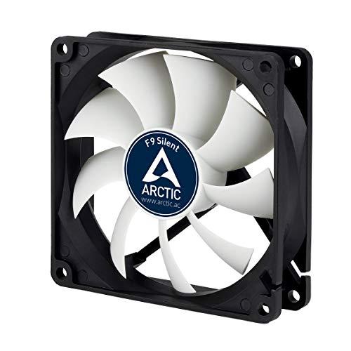 ARCTIC F9 Silent - 92 mm Ventilador de Caja para CPU, Motor Muy Silencioso, Computadora, 1000 RPM - Negro/Blanco