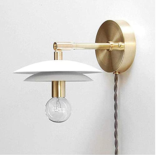 N/Z Equipo de Vida Proyector Iluminación Cobre Lámpara de Estilo Europeo Dormitorio Sala de Estar Colgante de Pared Americano TV Jane