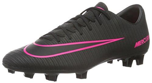 Nike Mercurial Victory Vi Fg, Scarpe da Calcio Allenamento Uomo, Nero (Schwarz/Schwarz/Pink), 46