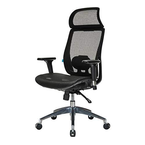 Jolly Sedia da Ufficio ergonomica Sedia da Ufficio Regolabile per Sedia da Ufficio in Rete (Nero)