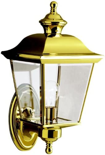 discount Kichler online 9712PB Bay Shore 2021 Outdoor Wall 1-Light, Polished Brass online
