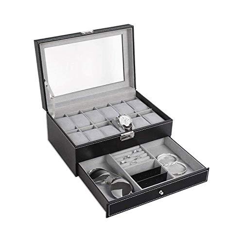 SSHA Joyero Mostrar joyería Mostrar Caja de Almacenamiento Caja de Reloj Reloj de Cuero Caja de Almacenamiento Organizador de Joyas