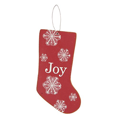 Merry & Bright MDF Rouge Chaussette \