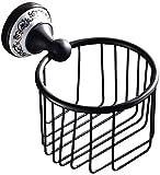 Estantes de ducha Accesorios de baño Set Metal, Latón Antiguo Multifunción Soporte de Papel Higiénico Montaje en Pared Rollo Organizador de Papel de Tejido Estante de Almacenamiento de Baño Ducha Cos