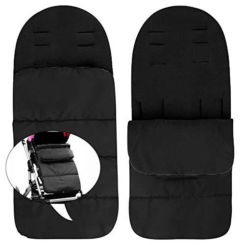 SUPEROK Universal 3 en 1 Saco de dormir para cochecito de bebé, Saco de dormir acolchado de lujo Impermeable Universal, Mantener caliente,Tour de invierno al aire libre Esencial(negro)