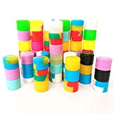 100Pcs Non-Stick Silicone Wax Containers 2ml Multi Use Storage Jars Cream Bottles Assorted Random Color