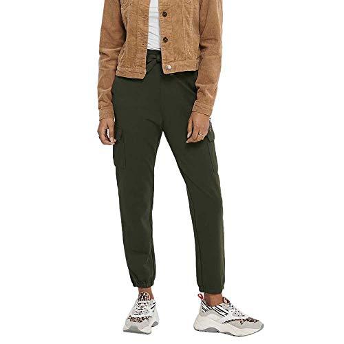 ONLY Damen ONLPOPTRASH Cargo Belt Pant Bin NOOS Hose, Forest Night, XL
