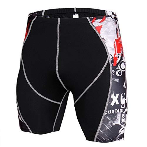 Preisvergleich Produktbild SHOUBANG Sportbekleidung Mens Gym Wear Fitness Training Shorts Männer Dry Fit Laufen Kompression Enge Sport Kurze Hosen Männliche Workout Shorts
