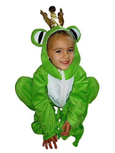 Frosch-König Kostüm, Sy12 Gr. 122-128, für Kinder, Froschkönig-Kostüme Frösche für Fasching Karneval, Klein-Kinder Karnevalskostüme, Kinder-Faschingskostüme, Geburtstags-Geschenk Weihnachts-Geschenk