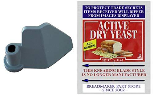 Breadman Model TR700 Kneading Paddle [See Pics/Details] Breadman Plus Ultra Automatic Bread Baker Maker Machine TR-700 Breadmaker Dough Mixing Blade QVC K-20117 K-47777 TR-700 [Kneader/Yeast Bundle]