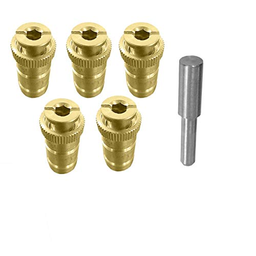 mistcooling Brass Anchor for Pool Safety Cover - 5 Pack - 5/8' Anchor. Fits 3/4' Hole.