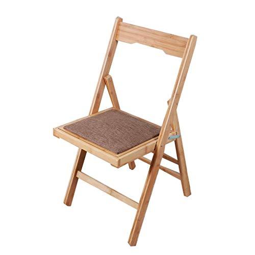 DJY-JY Taburete plegable de bambú sólido portátil para el hogar adulto respaldo lateral simple banco silla plegable