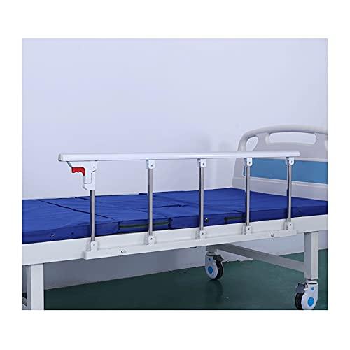 WCX Barras Plegables Seguridad para Personas Mayores, Adultos Barandilla de la Cama barandilla de Cama de Hospital,Barra de Agarre de Metal (Color : White, Size : 120X40CM)