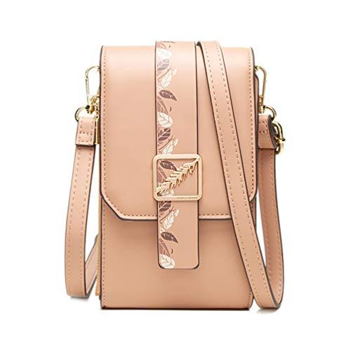Fanshu Mini bolso de hombro para mujer monedero de teléfono celular bolso mini bolso de hombro para mujer Crossbody bolsa de teléfono monedero mini bolsa de tarjeta bolsa con cremallera