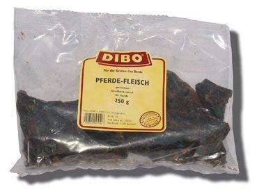 DIBO Pferde-Fleisch, 250g-Beutel, 100{72de6cbdc9f86cd7eaa3599e6be76021b6a8c31d4ea6657d1e30bac877f55449} Pferdefleisch, Naturkau-Snack oder Leckerli für Zwischendurch, Hundefutter, Qualitätskauartikel ohne Chemie von DIBO