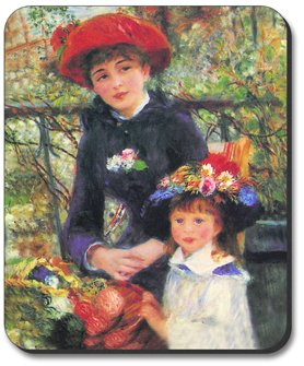 Renoir: Two Sisters - Art Plates Brand Mouse Pad