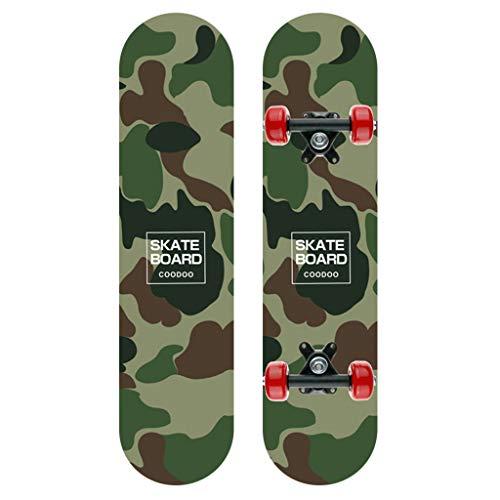 HSD Kinder Longboard Skateboard Komplett Board Holzboard Kinder Erwachsene Coole Designs Cruiser Boards City Scooter Mehrere Stile Optional