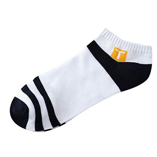 QUINTRA Socken Unisex Streifen Patchwork Unsichtbare kurze Socken Lässige Haltbarkeit Baumwoll-Sportsocken